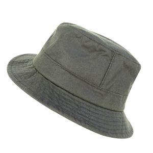 Hoggs of Fife Waxed Bush Hat - Dark Olive