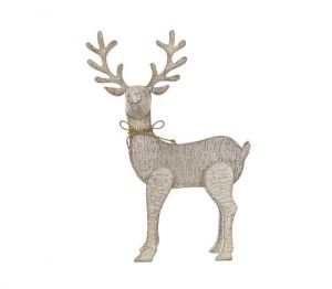 Jingles Wooden Reindeer - 24cm