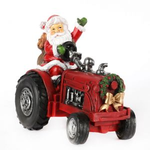 Jingles Santa on Tractor Ornament