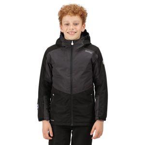 Regatta Children's Beamz Jacket - Black/Ash