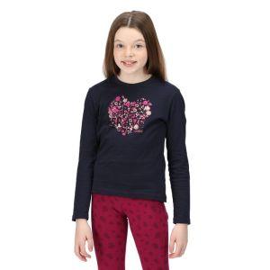Regatta Children's Wenbie II Long Sleeved T-shirt - Navy