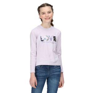 Regatta Children's Wenbie II Long Sleeved T-shirt - Lilac Frost