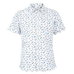 Weird Fish Men's Lucienne Short Sleeve Shirt – White