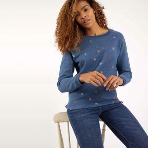 Weird Fish Women's Angra Crew Neck Sweatshirt – Ensign Blue