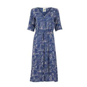Weird Fish Women's Milli Printed Midi Dress – Ensign Blue