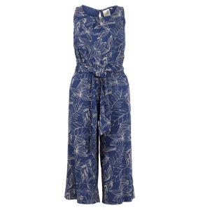 Weird Fish Women's Nalani Printed Jumpsuit – Ensign Blue
