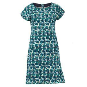 Weird Fish Women's Tallahassee Printed Jersey Dress – Bottle Green