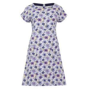 Weird Fish Women's Tallahassee Printed Jersey Dress – Lilac Hint