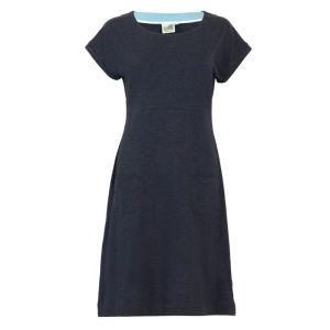 Weird Fish Women's Viola Jersey Dress – Navy