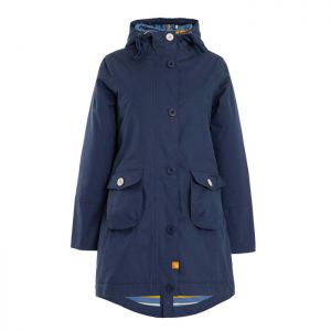 Weird Fish Women's Beatrix Waxed Waterproof Coat - Navy