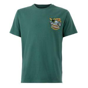 Weird Fish Men's Motorpikes Artist T-Shirt - Dark Green