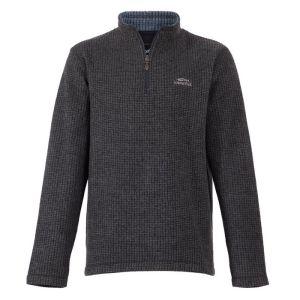 Weird Fish Men's Newark 1/4 Zip Sweatshirt - Black