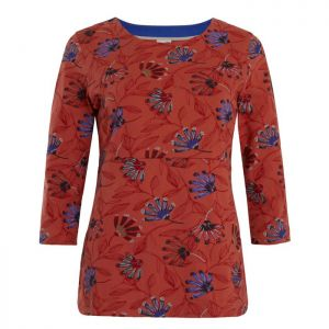 Weird Fish Women's Pinto Printed Jersey T-Shirt - Burnt Orange