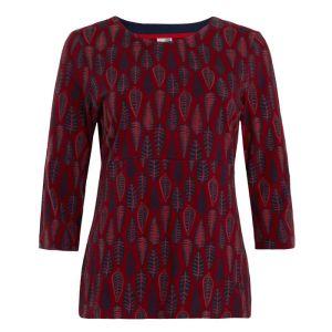 Weird Fish Women's Pinto Printed Jersey T-Shirt - Rich Red