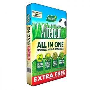 Westland Aftercut All In One Lawn Feed, Weed & Moss Killer – 400m²