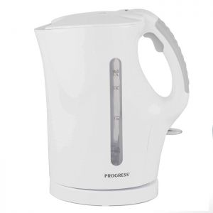 Progress Plastic Kettle with Soft Grip Handle - White