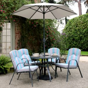 Wild Garden Peony Dining Set - 4 Seater