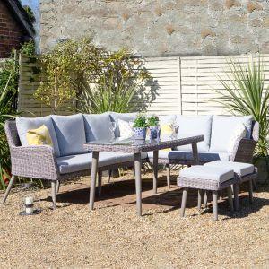 Wild Garden Weimar 8 Seater Corner Lounge Sofa Set