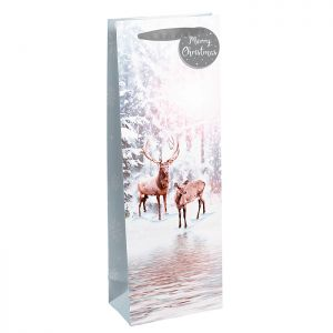 Winter Stag & Fawn Bottle Bag