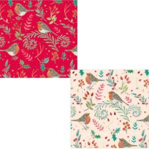 Christmas Gift Wrap & Tags – Wintery Robins