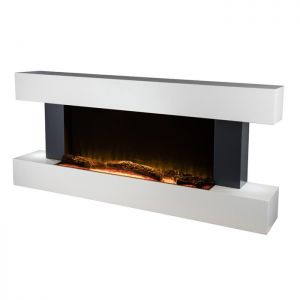 Warmlite WL45033N Hingham Wall Mounted Fireplace Suite - White