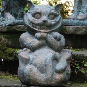 Home & Garden Alice in Wonderland Garden Ornament - Cheshire Cat
