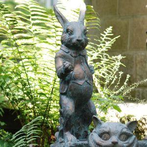Home & Garden Alice in Wonderland Garden Ornament - White Rabbit