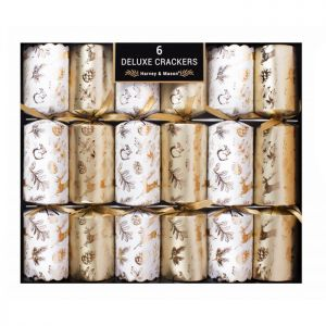 Harvey & Mason Deluxe Gold Woodland Crackers – Pack of 6