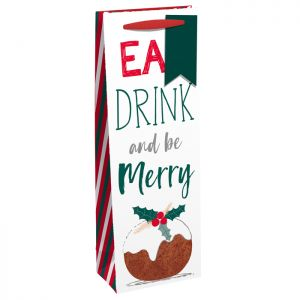 Christmas Pudding - 'Eat, Drink and be Merry' Bottle Bag