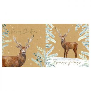 Stag Christmas Cards - 12 Pack