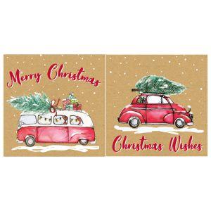 Campervan & Car Christmas Cards - 12 Pack