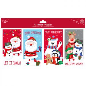 Cute Gift Money Wallets - 4 Pack