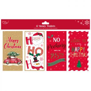 Contemporary Gift Money Wallets - 4 Pack
