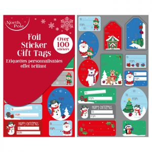 Cute Foil Sticker Gift Tags - 100 Pack