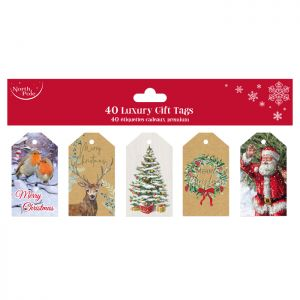 Traditional Luxury Gift Tags - 40 Pack