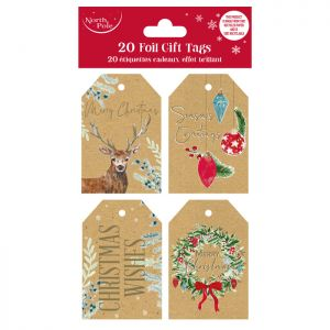 Eco Foil Traditional Gift Tags - 20 Pack