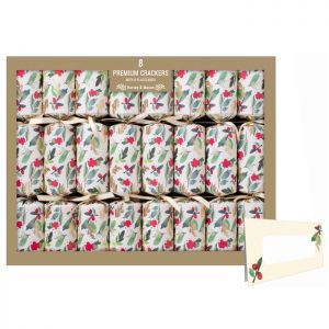 Harvey & Mason Premium Holly Crackers – Pack of 8