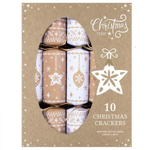 Bauble and Star Eco Crackers – Pack of 10