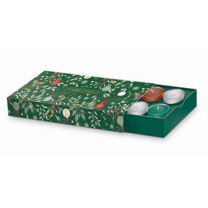 Yankee Candle 10 Tea Lights and Holder Christmas Gift Set