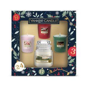 Yankee Candle Small Jar Plus 3 Votives Christmas Gift Set