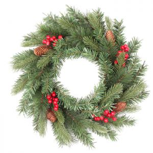 Winter Berry and Pinecone Wreath – 60cm