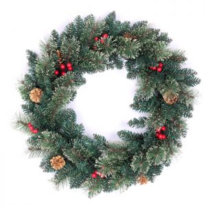 Snow Tipped Berry and Pinecone Wreath – 50cm