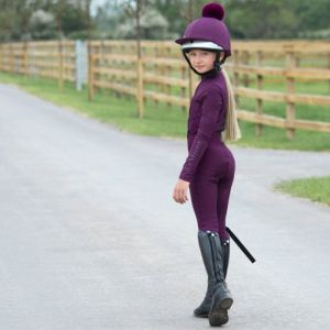 LeMieux Young Rider Pull On Breeches - Grape