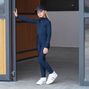 LeMieux Young Rider Pull On Breeches - Indigo