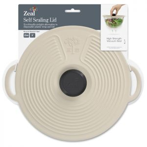 Zeal Silicone Self Sealing Lid, 23cm - Cream