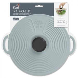 Zeal Silicone Self Sealing Lid, 23cm - Duck Egg Blue