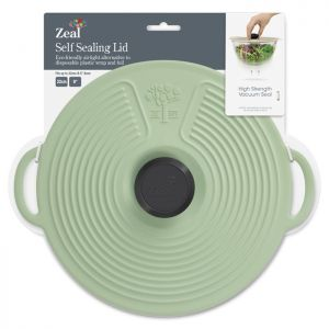 Zeal Silicone Self Sealing Lid, 23cm - Sage Green