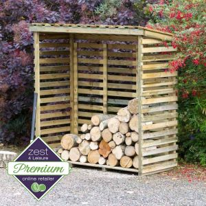 Zest 4 Leisure Large Log Store with Back