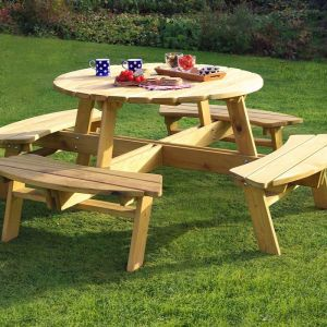 Zest 4 Leisure Poppy Round Picnic Table