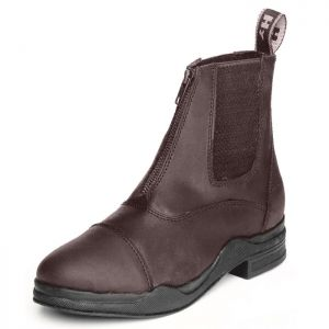 HyLand Leather Zip Up Jodhpur Boots - Brown